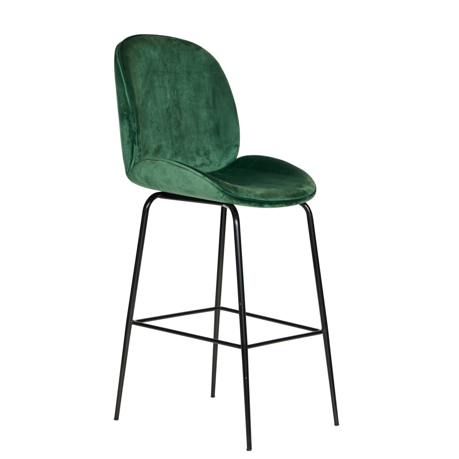 Harlow Stool - Green Velvet / Black Leg - Event Artillery