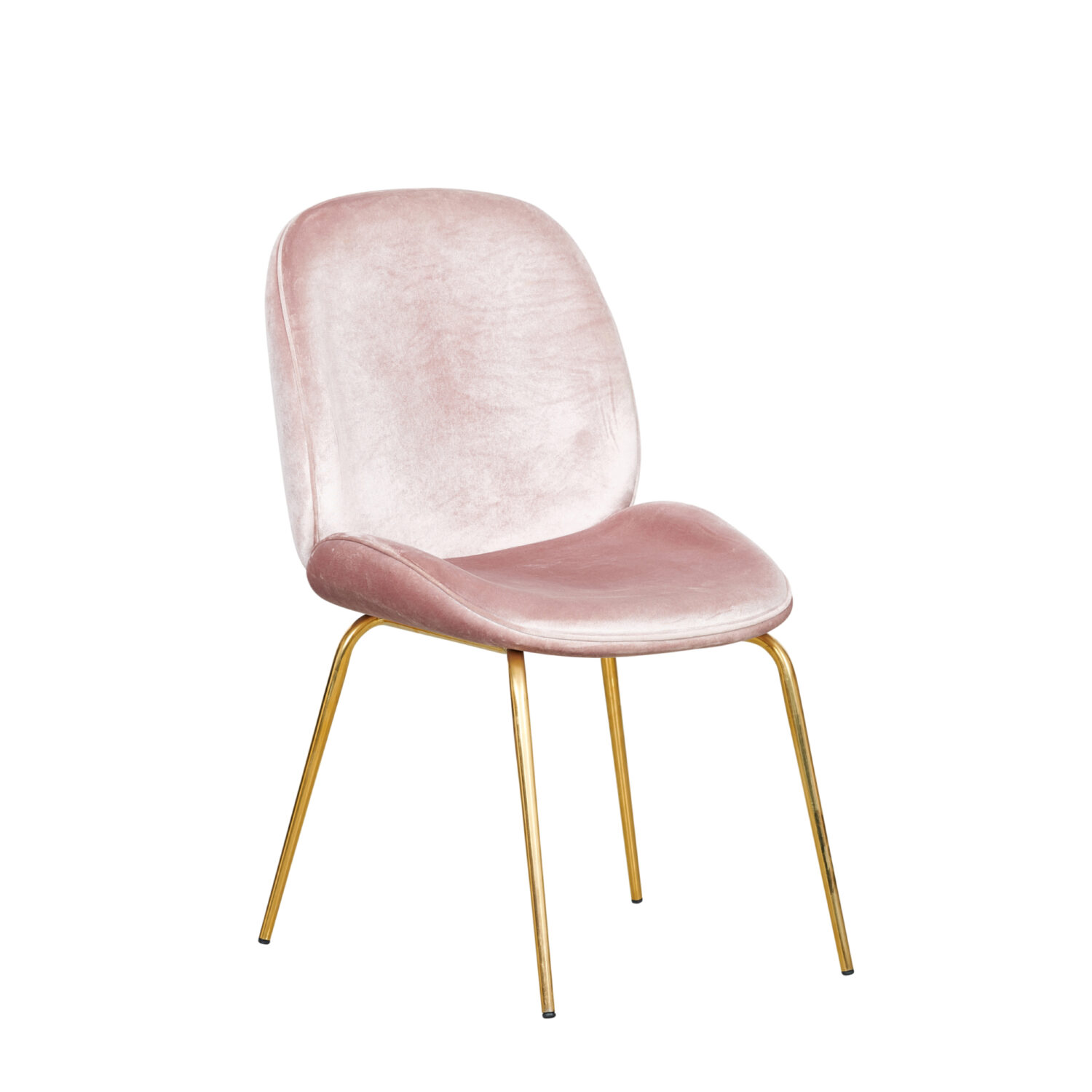Grace Occasional Chair - Blush Seat & Gold Legs - Event Artillery