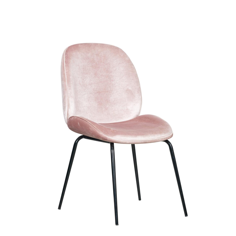 Grace Occasional Chair - Blush Seat & Black Legs - Event Artillery