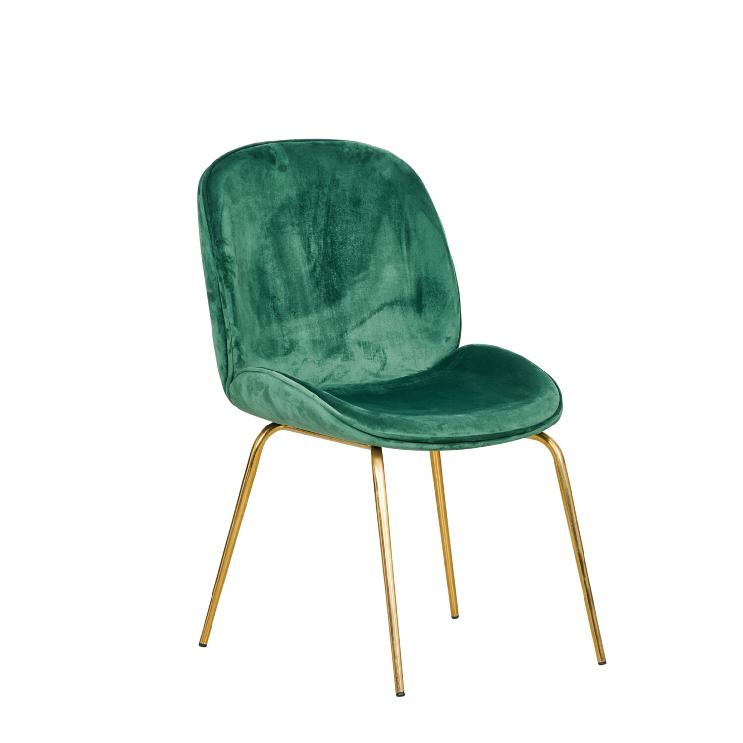 Grace Occasional Chair - Forest Green Seat & Gold Legs - Event Artillery