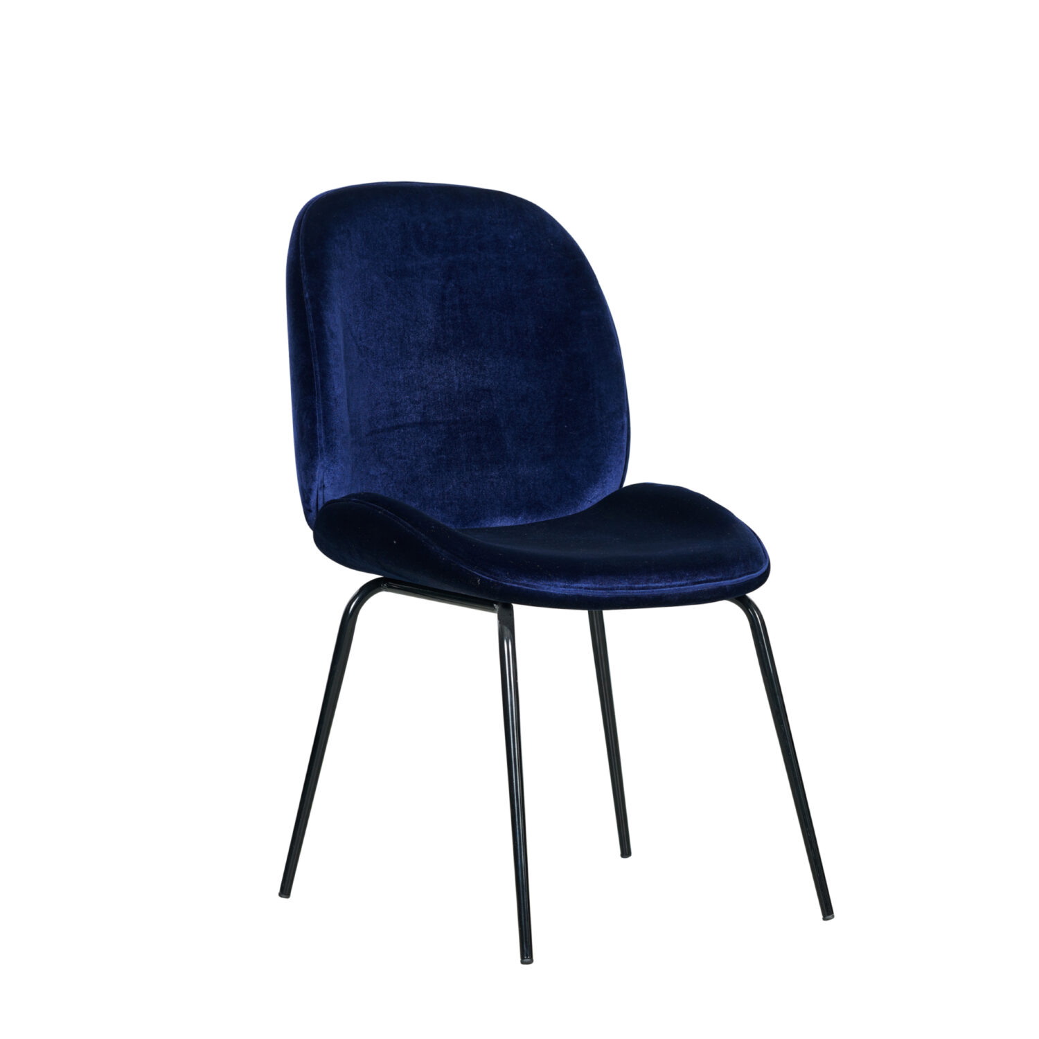 Grace Occasional Chair - Navy Seat & Black Legs - Event Artillery