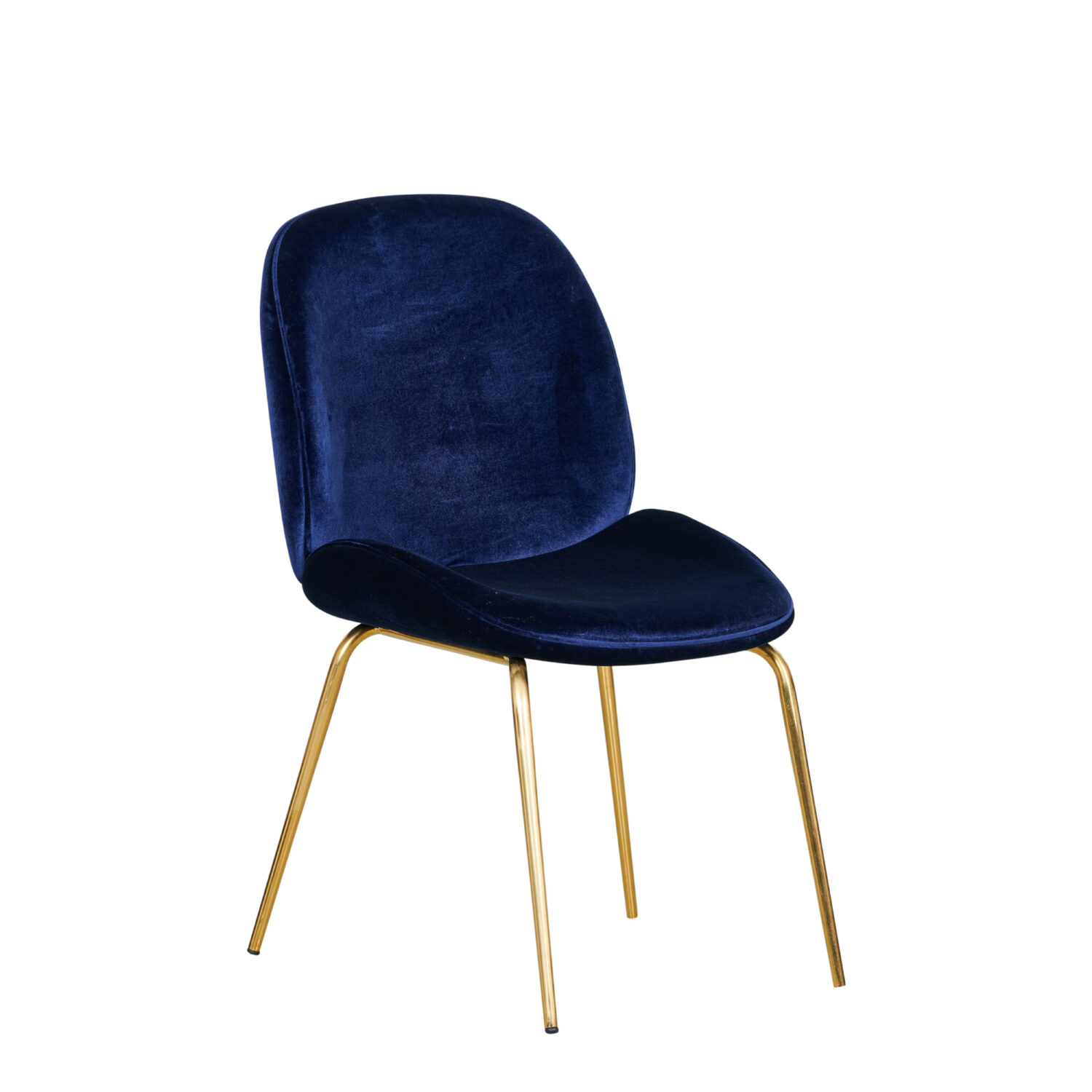 Grace Occasional Chair - Navy Seat & Gold Legs - Event Artillery