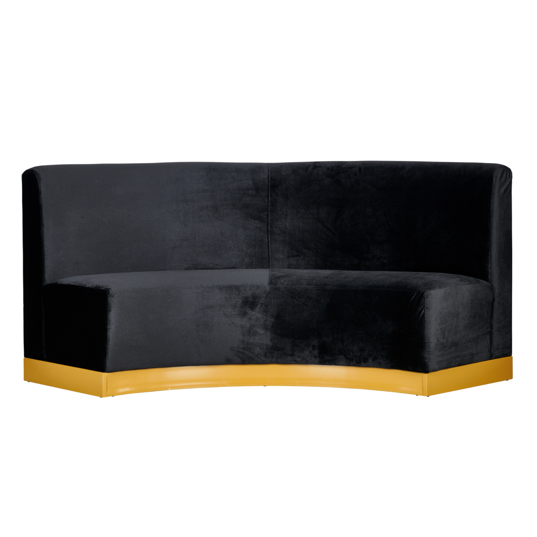Velvet Banquette Seating - Black - Event Artillery