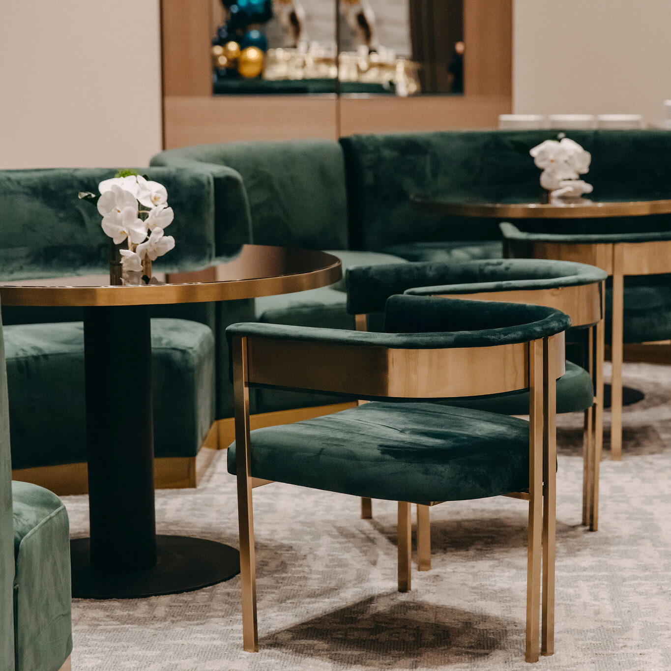 Velvet Banquette Seating - Forest Green - Event Artillery
