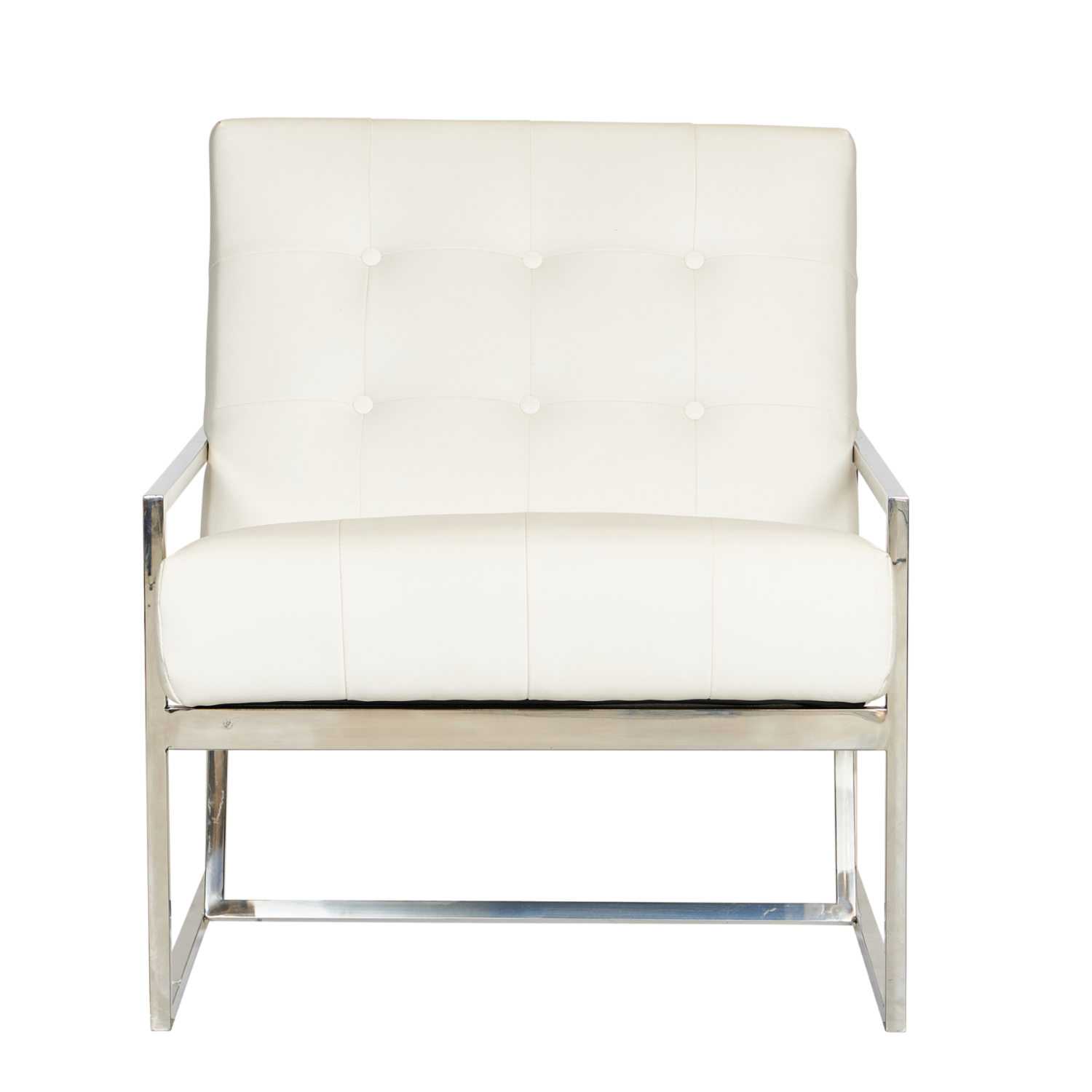 Starlet Armchair - White / Silver Frame - Event Artillery