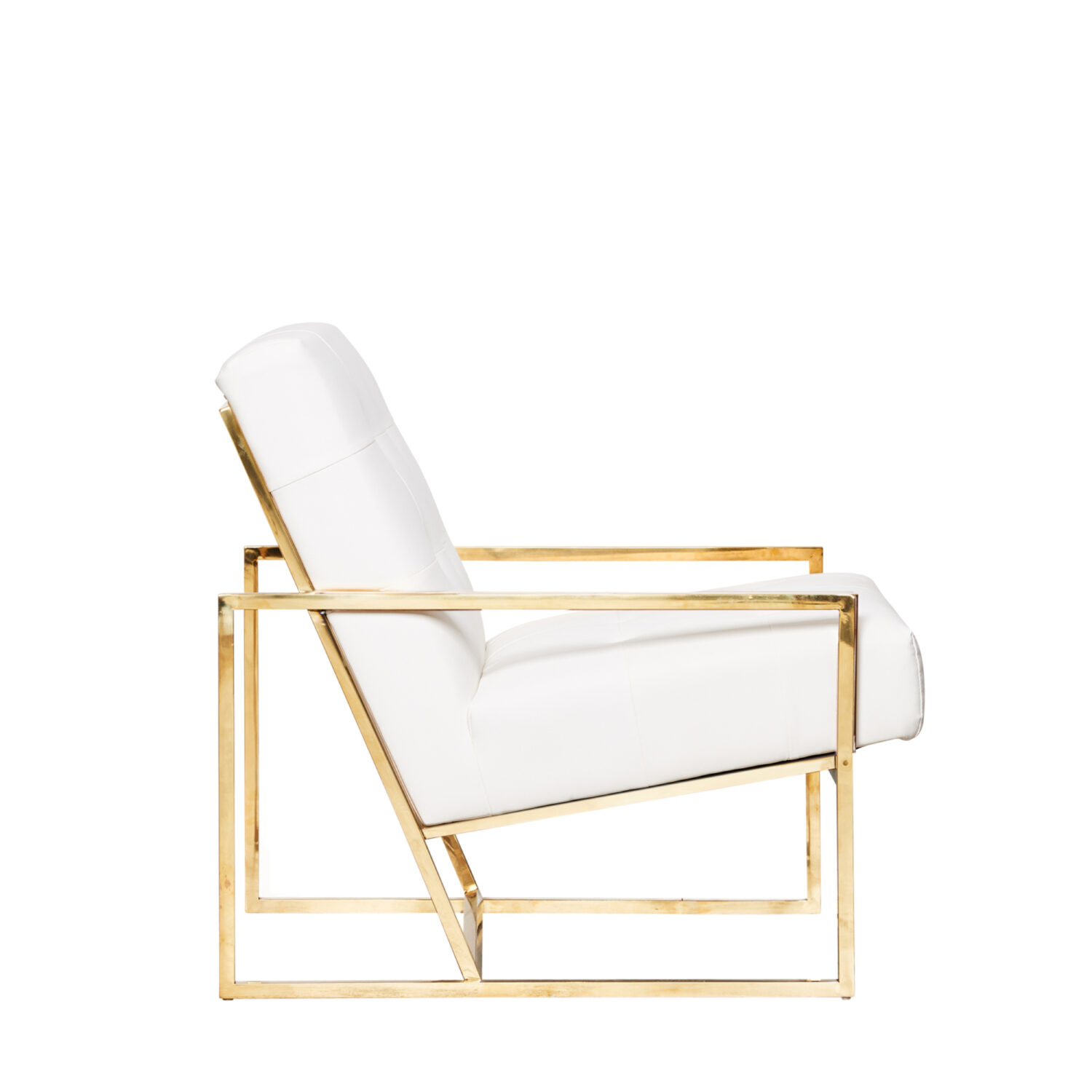 Starlet Armchair - White / Gold Frame - Event Artillery