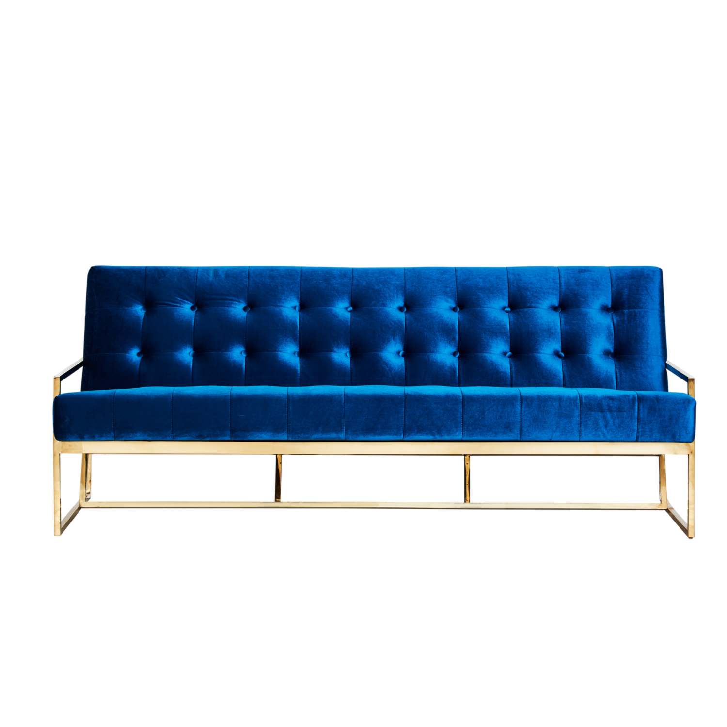 Starlet Three Seater Sofa - Teal / Gold Frame - Event Artillery