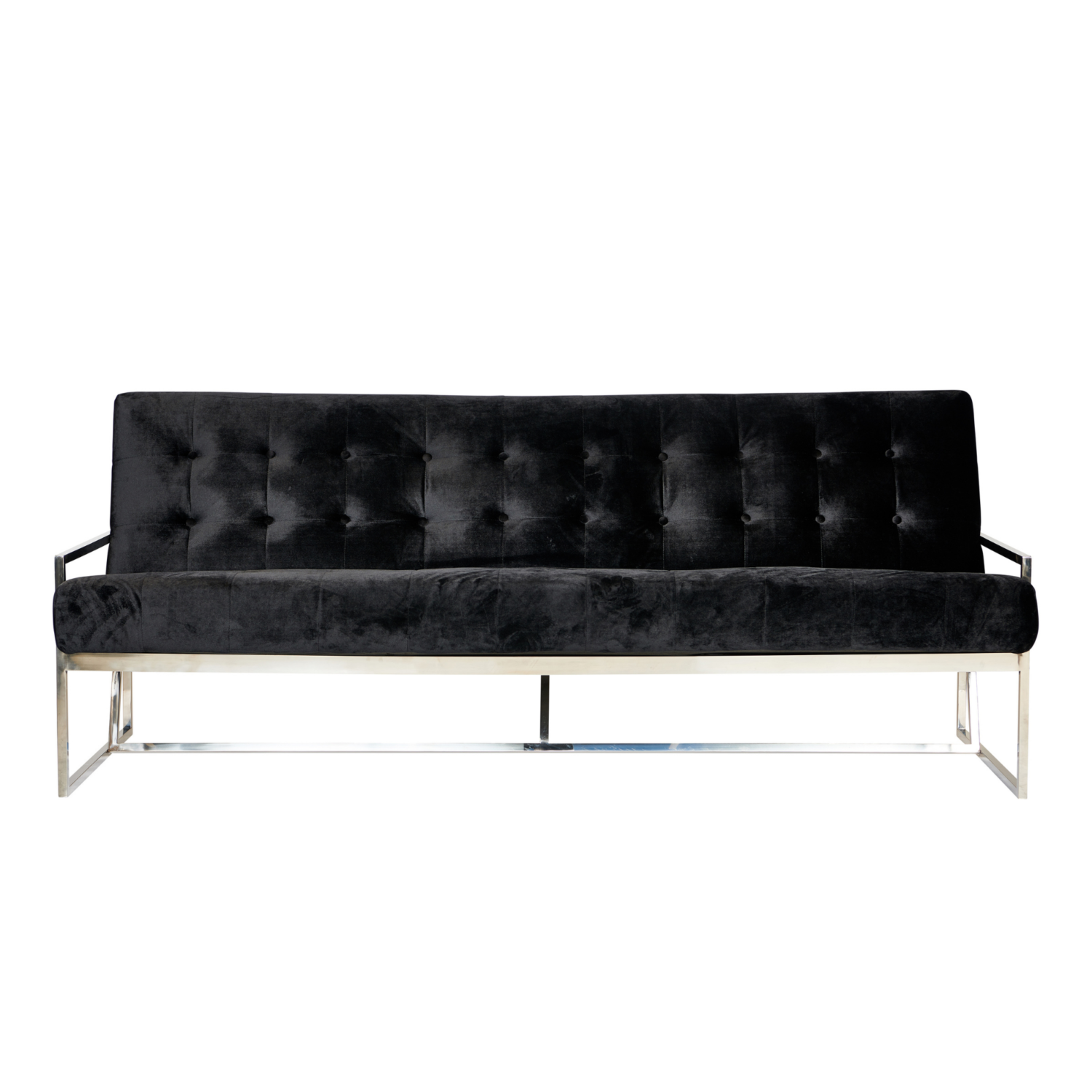 Starlet Three Seater Sofa - Black / Silver Frame - Event Artillery