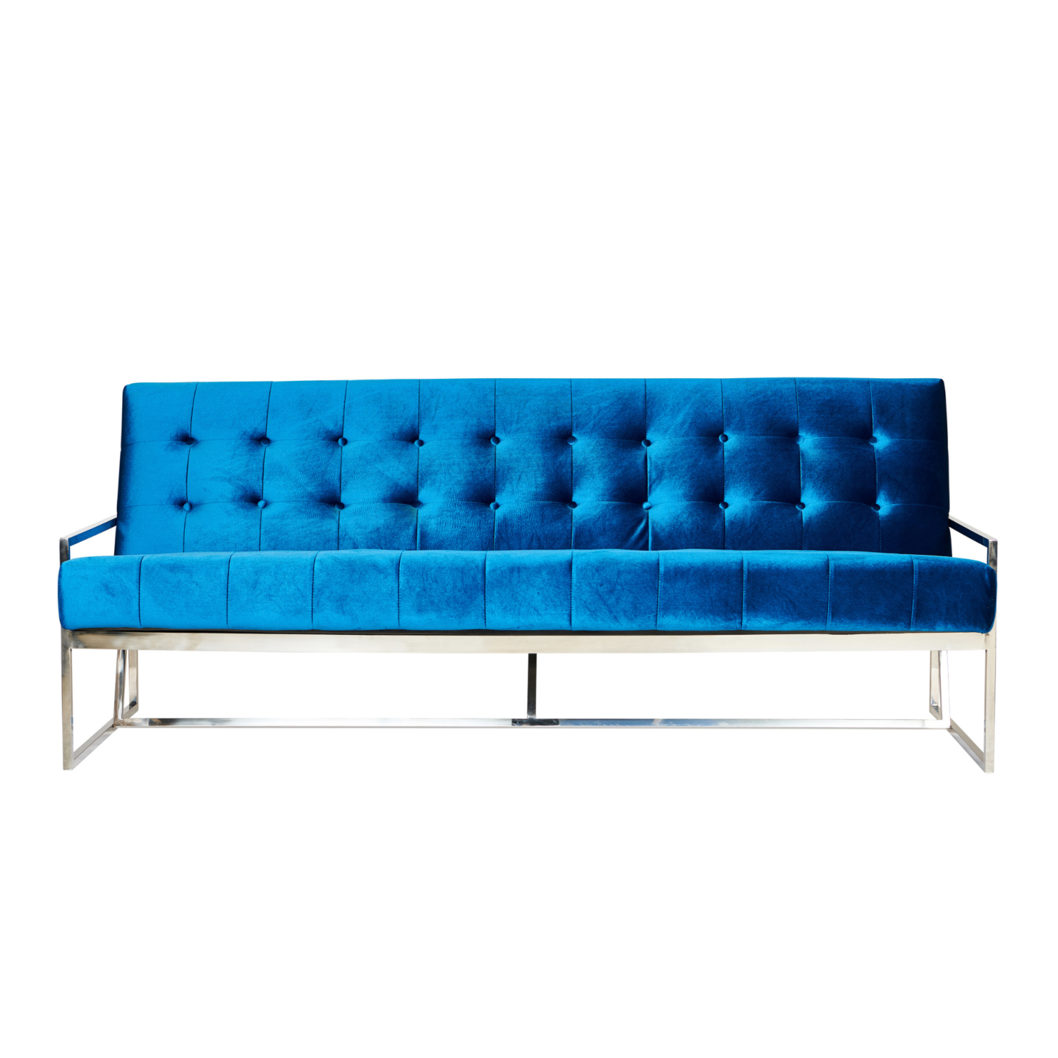 Starlet Three Seater Sofa - Teal / Silver Frame - Event Artillery