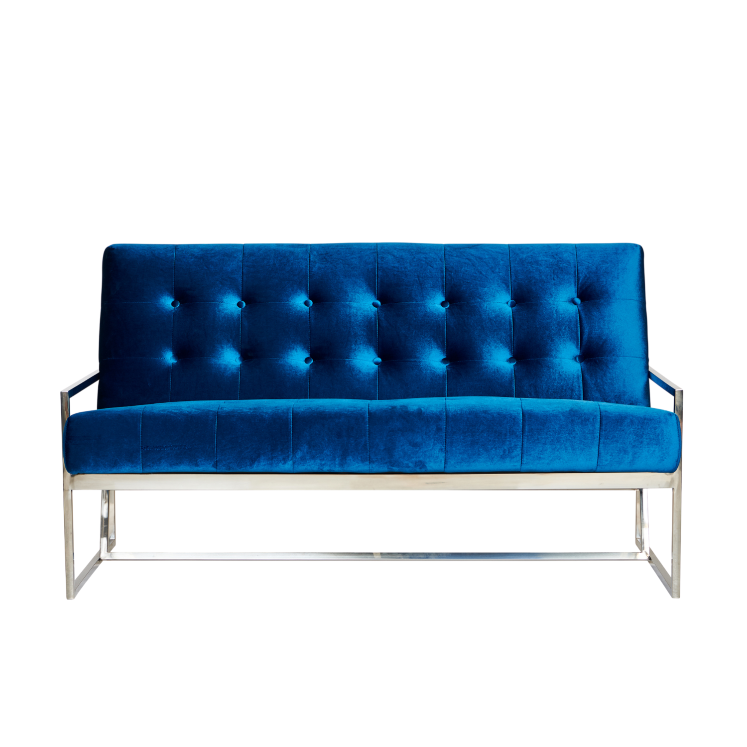 Starlet Two Seater Sofa - Teal / Silver Frame - Event Artillery
