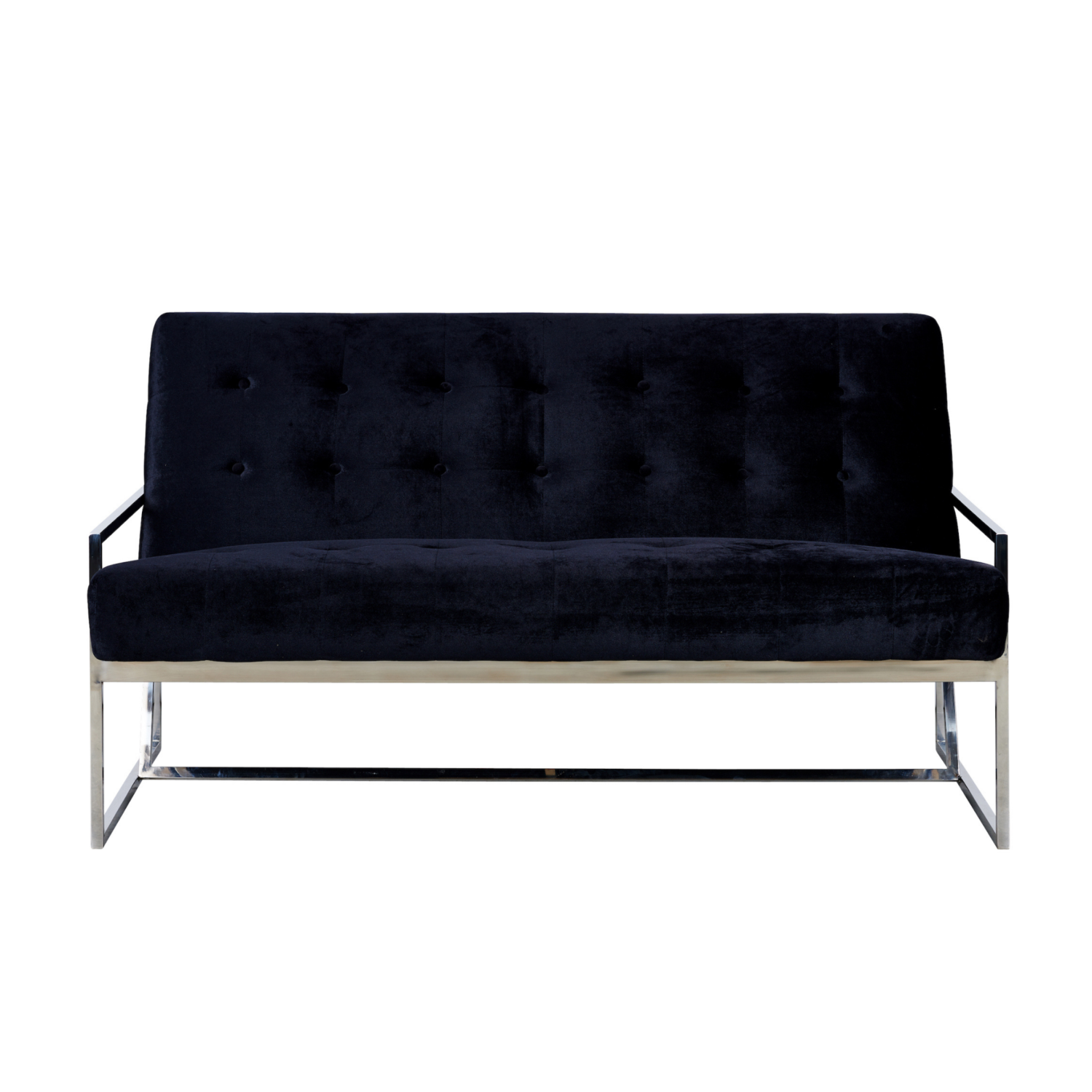 Starlet Two Seater Sofa - Black / Silver Frame - Event Artillery