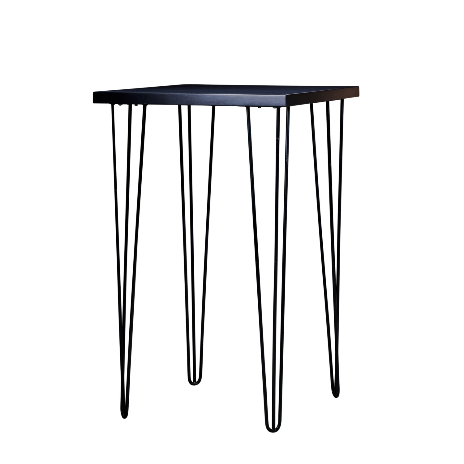 Hairpin Square Bar Table - Black Top / Black Legs - Event Artillery