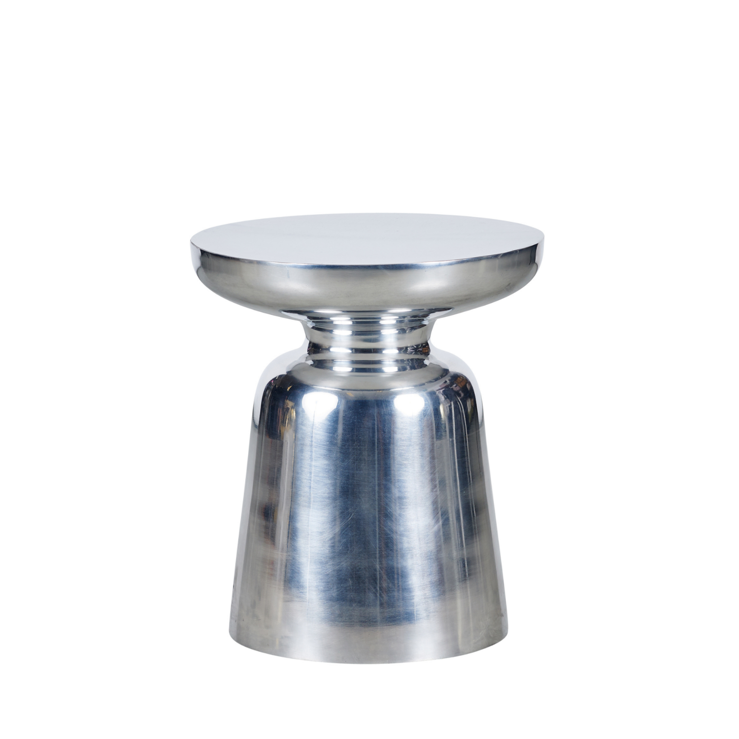 Brushed Side Table - Silver - Event Artillery