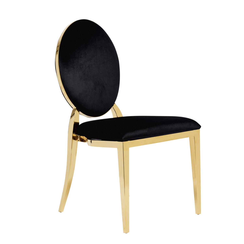 Harlow Dining Chair - Black Velvet - Event Artillery