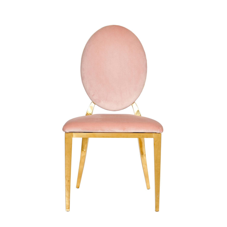 Harlow Dining Chair - Blush Velvet - Event Artillery