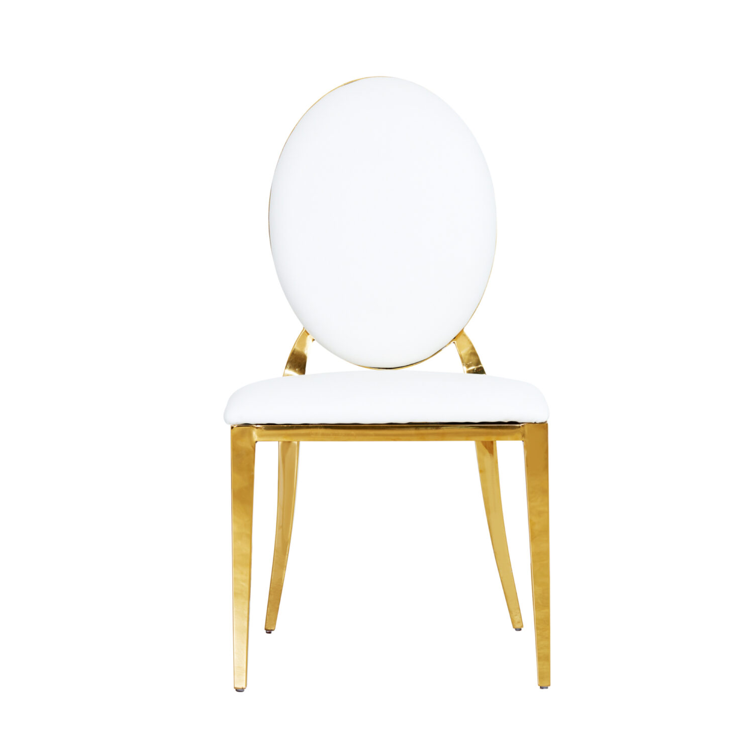 Harlow Dining Chair - White leather - Event Artillery