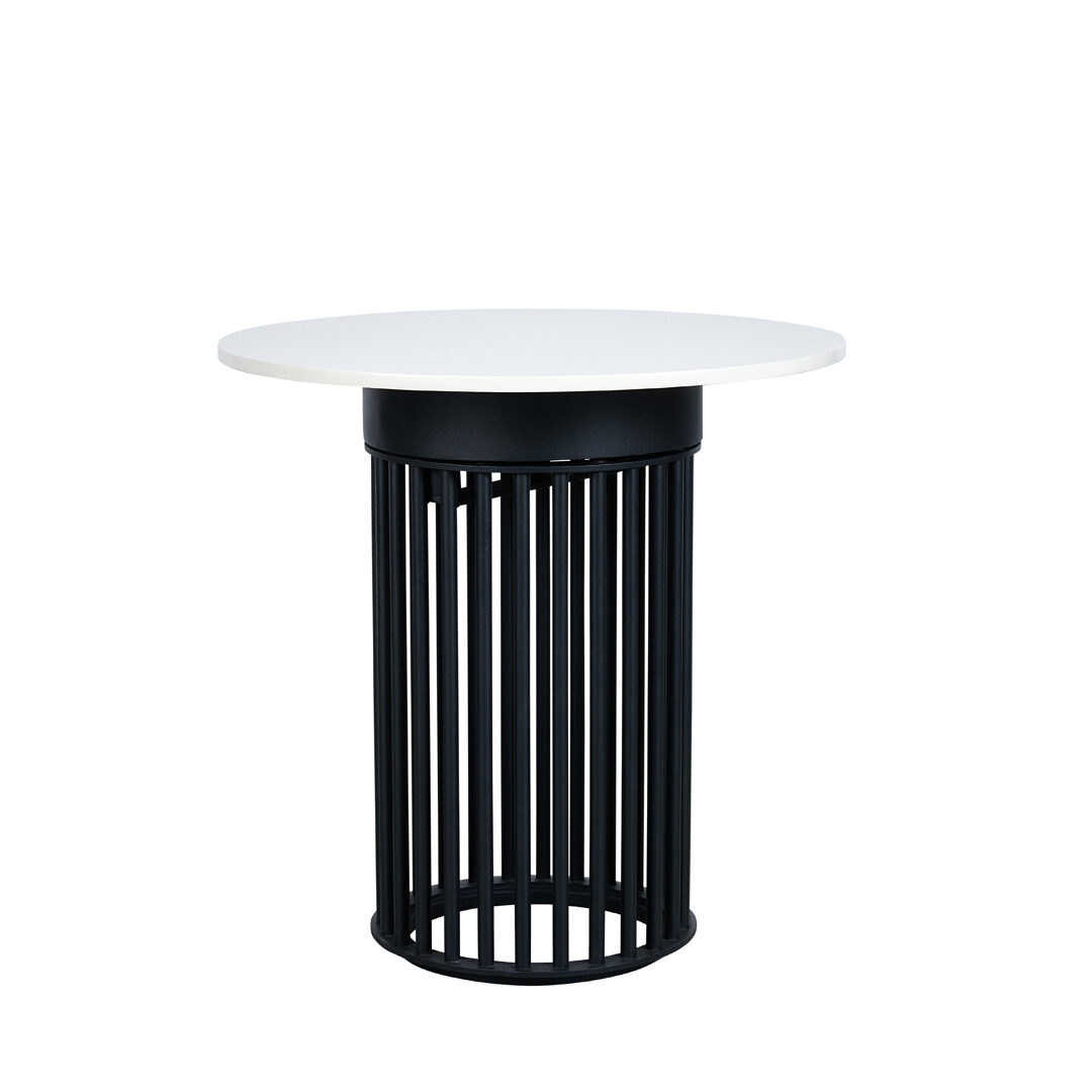 Ripple Cafe Table - Hollow Black Base / Chalk Top - Event Artillery