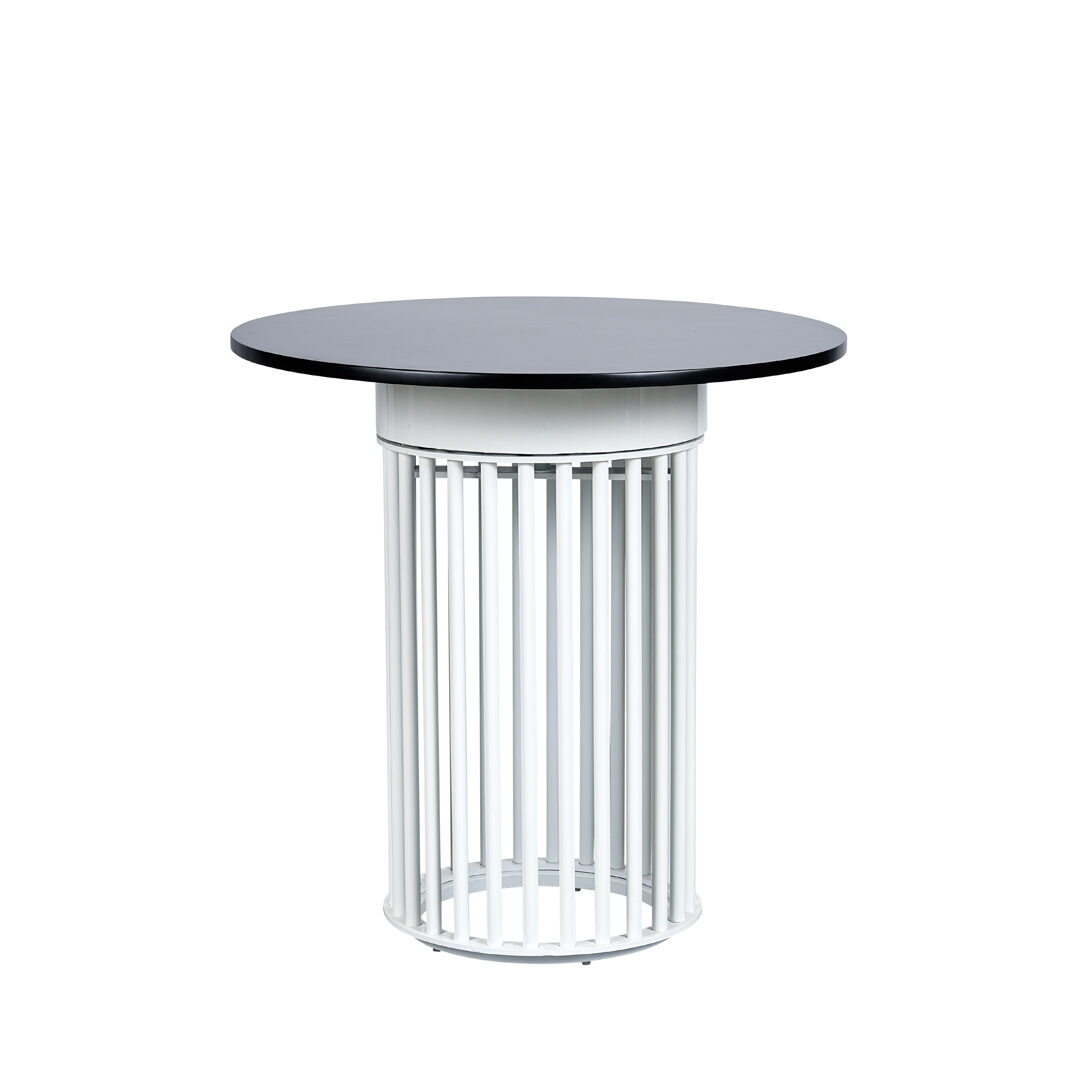 Ripple Cafe Table - Hollow Black top / Chalk Base - Event Artillery