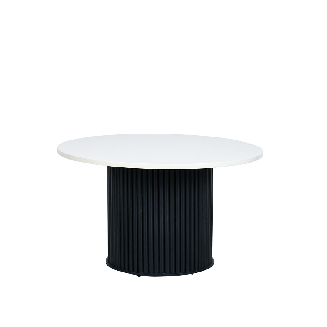 Ripple Coffee Table - White Top / Black Base - Event Artillery