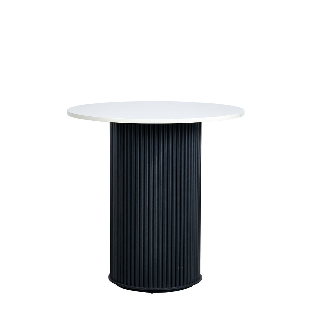 Ripple Cafe Table - White Top / Black Base - Event Artillery