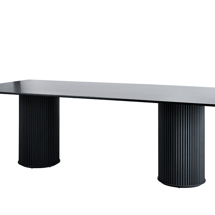 Ripple Dining Table - Solid Black - Event Artillery