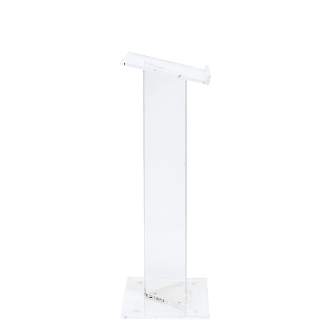 Lectern - Clear Acrylic - Event Artillery