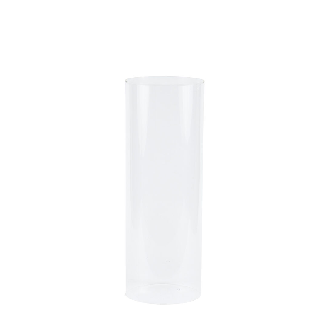 Round Plinth - 900mm H - Clear - Event Artillery